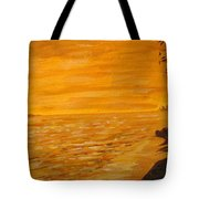 Orange Beach Tote Bag