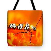Orange Beetle On Orange Flower Tote Bag