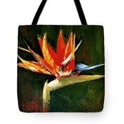 Orange Bird Of Paradise Tote Bag