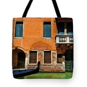 Orange Building And Gondola Tote Bag