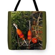 Orange Buoys, Nautical, Marblehead, Ma Tote Bag