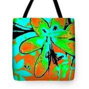 Orange Burst Flower Tote Bag