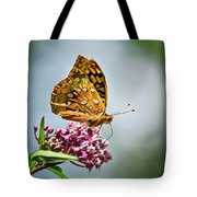 Orange Butterfly Tote Bag
