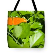 Orange Butterfly On Foliage Tote Bag