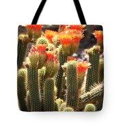 Orange Cactus Blooms Tote Bag