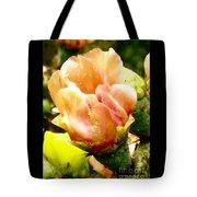 Orange Cactus Blossom Tote Bag