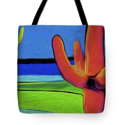 Orange Cactus By Nixo Tote Bag