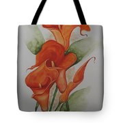 Orange Callas Tote Bag