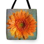 Orange Color Stroke Gerber Daisy Tote Bag