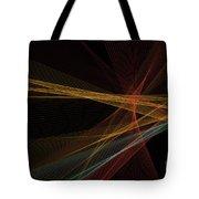 Orange Computer Graphic Line Pattern Tote Bag