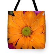 Orange Crush Daisy Tote Bag