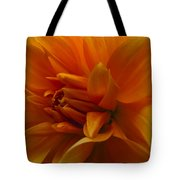 Orange Dahlia Tote Bag