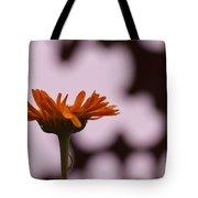 Orange Daisey Tote Bag