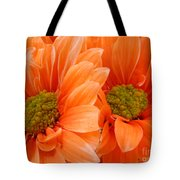 Orange Daisies Paired Tote Bag