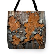 Orange Decay Tote Bag