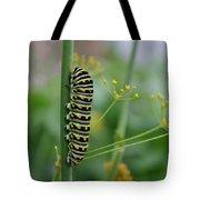 Orange Dot Caterpillar Tote Bag