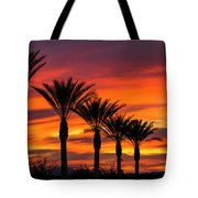 Orange Dream Palm Sunset  Tote Bag