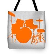 Orange Drum Set Tote Bag by Naxart Studio