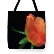 Orange Flame Rose Tote Bag by Tracy Hall