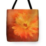 Orange Flower Energy Tote Bag