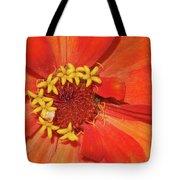 Orange Flower Macro Tote Bag