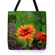 Orange Flowers Tote Bag