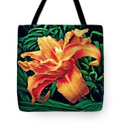 Orange Frenzy Tote Bag
