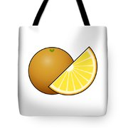 Orange Fruit Outlined Tote Bag