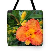 Orange Gladiola Flower And Buds Tote Bag