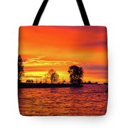 Orange Glow Sunset At Sunset Beach In Vancouver Bc Tote Bag