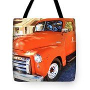 Orange Gmc Pickup Truck In Idyllwild Tote Bag