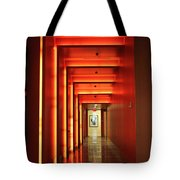 Orange Hallway Tote Bag