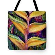 Orange Heliconia Tote Bag