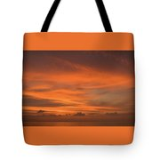 Orange Insanity Sunset Venice Florida Tote Bag
