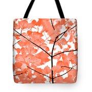 Orange Leaves Melody  Tote Bag