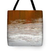 Reflections Of Fall Leaves And Sunlit Ripples On Jamaica Pond Tote Bag