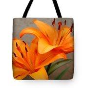 Orange Lilies 2 Tote Bag