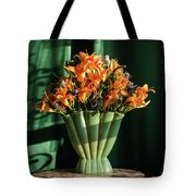 Orange Lilies In June Tote Bag