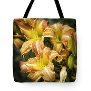 Orange Lilies Portrait Tote Bag