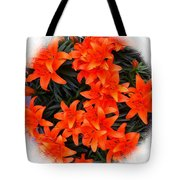 Orange Lilies Vignette Tote Bag