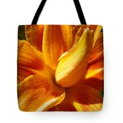 Orange Lily Flower Art Print Summer Lilies Baslee Tote Bag
