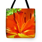 Orange Lily Flower Art Print Summer Lily Garden Baslee Troutman Tote Bag