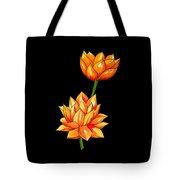 Lotus Flower Tattoo Design Inspired Watercolour Tote Bag