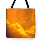 Orange Misty Sky Tote Bag