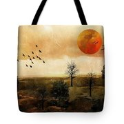 Orange Moon Tote Bag