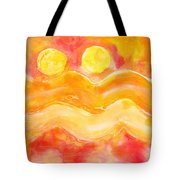 Orange Moons Tote Bag