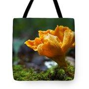 Orange Mushroom Flower On The Forest Floor Tote Bag