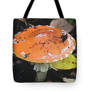 Orange Mushroom Tote Bag