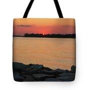 Orange Nite Sky  Tote Bag