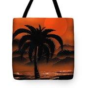 Orange Oasis Tote Bag